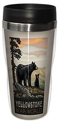 Tree-Free Greetings sg23271 Scenic Yellowstone National Park Bear World by Paul A. Lanquist Stainless Steel Sip 'N Go Travel Tumbler, 16-Ounce