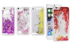 Liquid Glitter Quicksand Phone Case For Iphone 5/5s/se: Silver