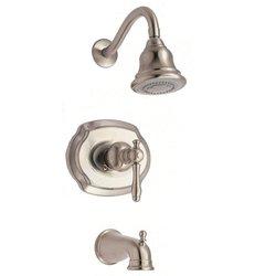 Glacier Bay Lyndhurst 1-Handle 1-Spray Tub & Shower Faucet -Brushed Nickel