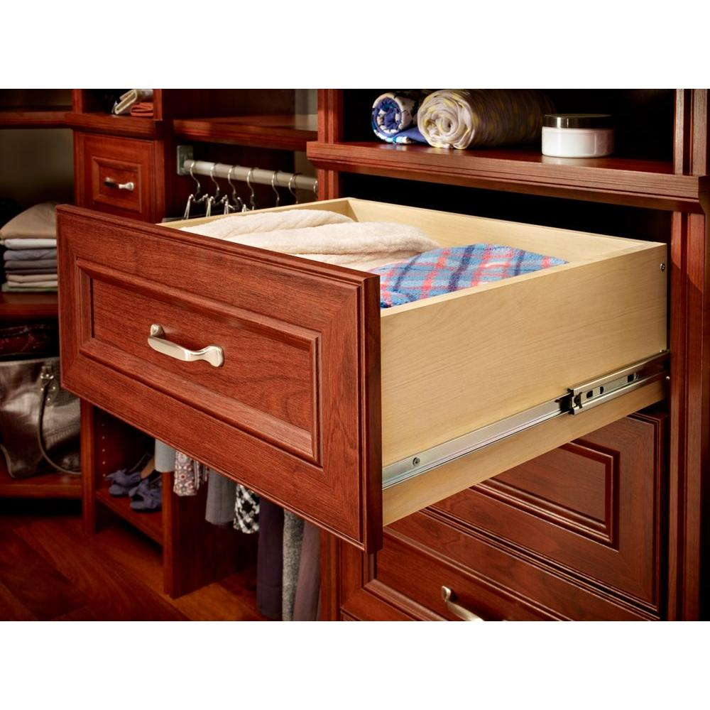 garden supplies drawers maid detail drawer cleaning closet kit more in wide cherry dark impressions deluxe closetmaid home