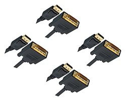 C&E DisplayPort Male to DVI Male Video Cable - 4-Pack - 10 Feet