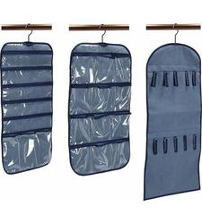 Household Essentials 3-Piece Accessory Storage Set, Blue