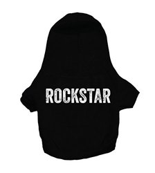 "Oliver & Iris ""rockstar"" Hoodie For Dogs, X-large, Black"