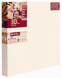 """12""""x12"""" Masterpiece 3D Pro Canvas - Vintage Oil Primed Belgian Linen"""