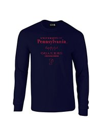 SDI NCAA Men's Stacked Vintage Long Sleeve T-Shirt - Navy - Size: Small