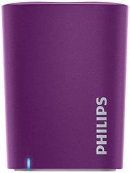 Philips Portable Universal Bluetooth Speaker - Violet (BT100P/37)