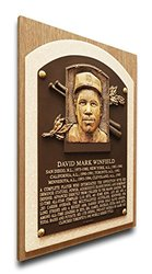 MLB Dave Winfield Hall of Fame Plaque on Canvas - Brown - Size: Medium