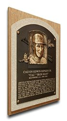 MLB Baltimore Orioles Cal Ripken Jr. Baseball Hall of Fame Plaque - Brown