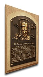 MLB New York Yankees Whitey Ford Hall of Fame Plaque - Brown