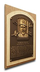 MLB Milwaukee Brewers Robin Yount Hall of Fame Plaque - Brown - Size: M