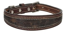"""Weaver Leather Stampede Collar, Rich Brown, 3/4"""" x 17"""""""