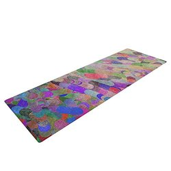 """Marianna Tankelevich """"Abstract"""" Yoga Exercise Mat - Rainbow"""