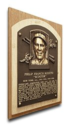 MLB New York Yankees Phil Rizzuto Baseball Hall of Fame Plaque - Brown