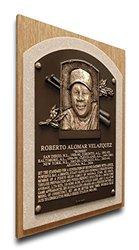 MLB Toronto Blue Jays Roberto Alomar Baseball Hall of Fame Plaque - Brown