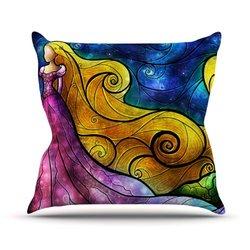 "Kess InHouse Mandie Manzano ""Starry Lights"" Outdoor Throw Pillow, 26 by 26-Inch"