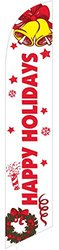 LookOurWay Happy Holidays White/Red Feather Flag, 12-Feet