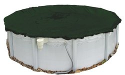 Defender Round Winter Cover in Forest Green Size: 24'