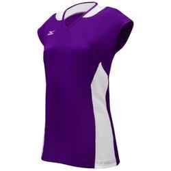 Mizuno Women's Classic Mystic Cap Sleeve Jersey, Purple/White, X-Large