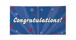 "Custom Product Solutions 24x48"" Congratulations Stars Banner (5FB244BA)"