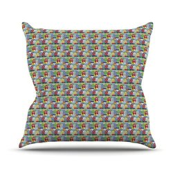 "Kess InHouse Holly Helgeson ""Reykjavik"" Rainbow Pattern Outdoor Throw Pillow, 20 by 20-Inch"