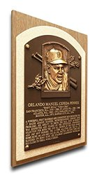 MLB Giants Orlando Cepeda Baseball Hall of Fame Plaque on Canvas