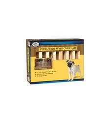 """Four Paws Extra Wide Walk over Wooden Dog Gate -18"""" H by 48-80"""""""