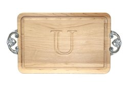 "BigWood Boards Cutting Board Maple Wood Serving Tray - ""U"""