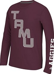 NCAA Texas A&M Aggies Men's On the Line Long Sleeve Tee - Maroon - Size: M