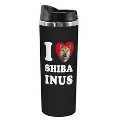 Tree-Free Greetings TT42119 I Heart Shiba Inus 18-8 Double Wall Stainless Artful Tumbler, 14-Ounce