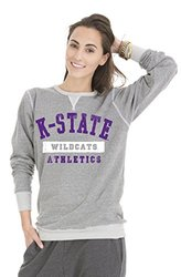 NCAA Kansas State Wildcats Tri-Blend Crew Neck Sweatshirt - Grey - Size: L