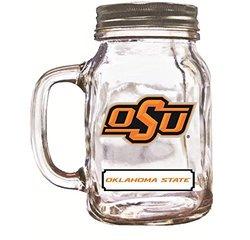 16Oz Mason Jar Oklahoma State Cowboys