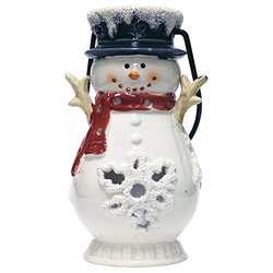 "A Cheerful Giver 6x11x6"" Flurry Snowman Lantern - Large"