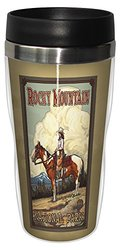 Tree-Free Greetings sg23188 Vintage Rocky Mountain National Park Cowgirl by Paul A. Lanquist Stainless Steel Sip 'N Go Travel Tumbler, 16-Ounce