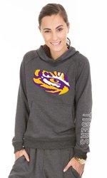 Venley NCAA Lsu Tigers Buttersoft Tri Blend Hoodie - Tri Onyx - Size: L