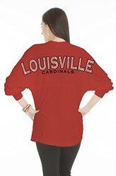NCAA Louisville Cardinals Women's Jade Long Sleeve Jersey - Red - Size: XS