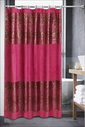 Popular Home The Luxa Hotel Collection Annika Crocodile Pattern Shower Curtain, Fuchsia
