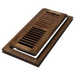 4 in. x 10 in. Wood Natural Hickory Saddle Flush Mount Floor Register