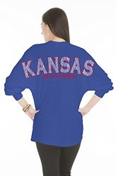 NCAA Kansas Jayhawks Women's Jade Long Sleeve Jersey - Royal - Size: XL