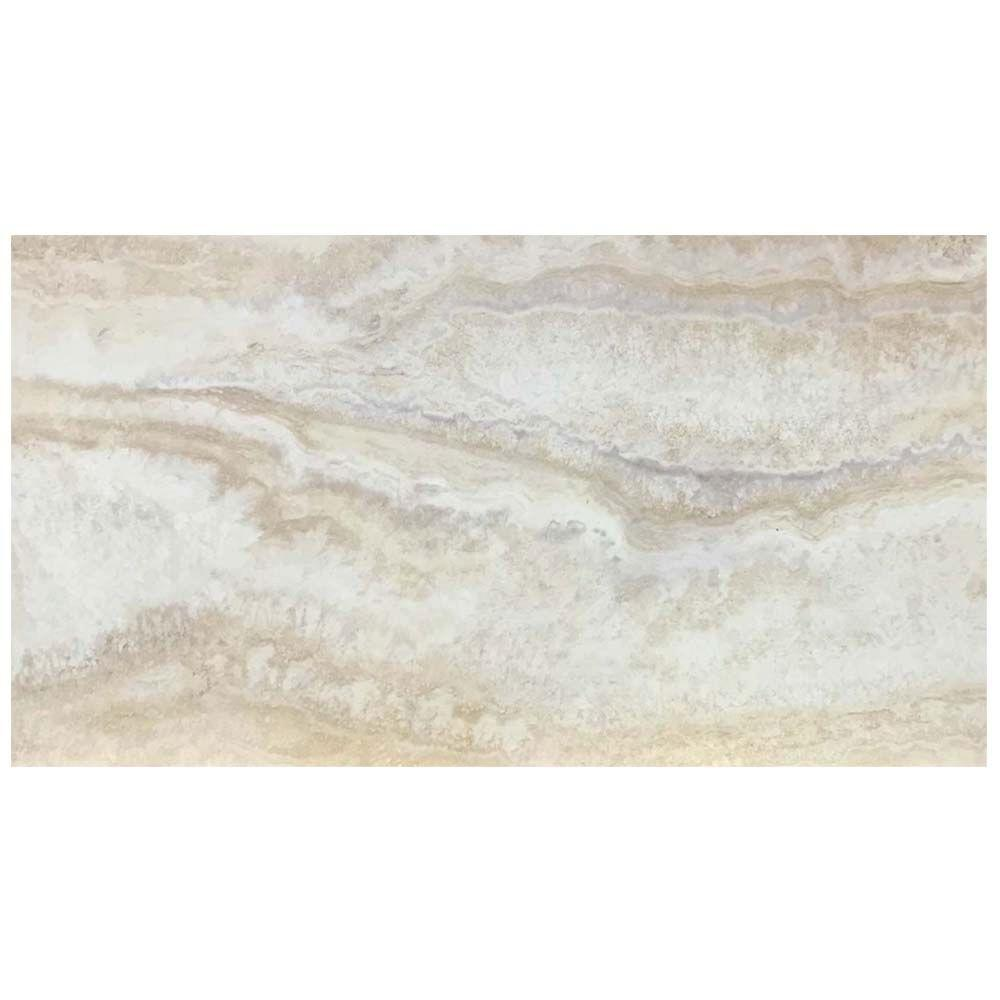 12x24 Light Grey Travertine L Stick Vinyl Tile Flooring 20