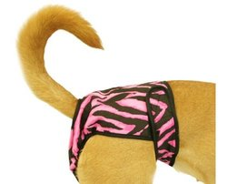 Seasonals Washable Dog Diaper, Fits Medium Dogs, Zebra