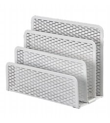 Artistic Urban Collection Punched Metal Letter Sorter, White (ART20003WH)