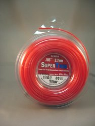 SuperTrim SU095D1/2-12 1/2-Pound Spool of .105-Inch-by-110-Foot Home-Owner Grade Round Grass Trimmer Line, Red