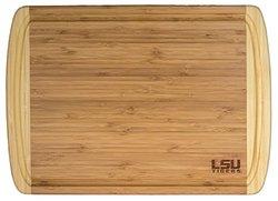 "Totally Bamboo Rectangular Kona Groove LSU Cutting/Serving Board 18x12.5"""