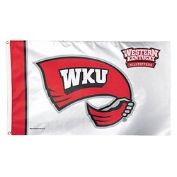 NCAA Western Kentucky Hilltoppers Deluxe Flag, 3 x 5', Multicolor
