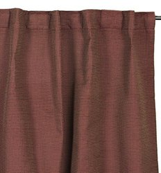 "Brielle Beckett Rod Pocket/Back Tab Window Panel - Red - Size: 54"" x 95"""