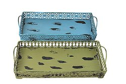 Attraction Design 2-Assorted Metal Artisanal Tray - Small