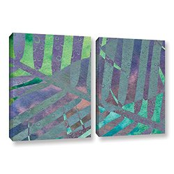Cora Niele's Leaf Shades III 2 Piece Gallery Wrapped Canvas Set - 24 by 36""