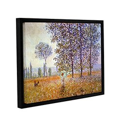 "ArtWall 18""x24"" Claude Monet's Poplars Gallery Wrapped Framed Canvas"