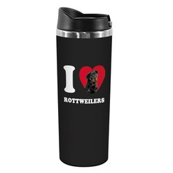 Tree-Free Greetings TT42110 I Heart Rottweilers 18-8 Double Wall Stainless Artful Tumbler, 14-Ounce