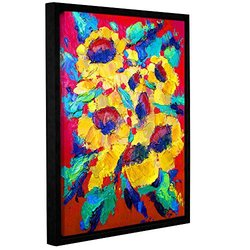 "ArtWall 18""x24"" Susi Franco's Sunflower on Shingel Roof Framed Canvas"